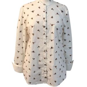 Victoria Beckham for target bumble bee button down